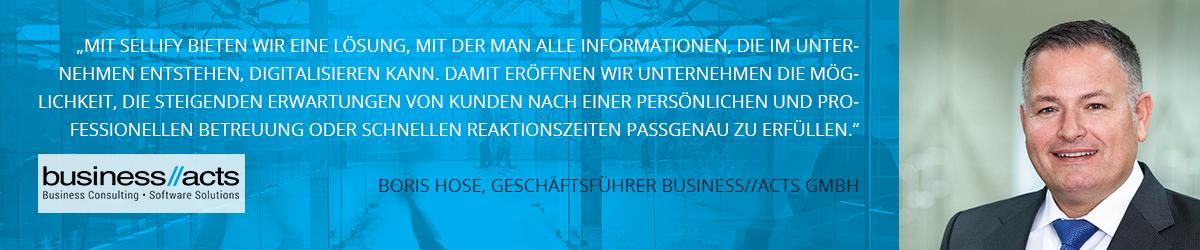 Boris Hose, Geschäftsführer business//acts GmbH